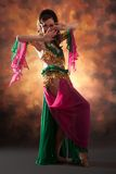 Beautiful exotic belly dancer woman Stock Images