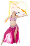 Beautiful exotic belly dancer woman Royalty Free Stock Image