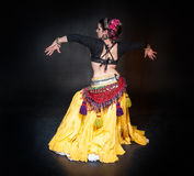 Beautiful exotic belly tribal dancer woman Stock Photo