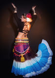 Beautiful exotic belly tribal dancer woman Royalty Free Stock Images
