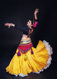 Beautiful exotic belly tribal dancer woman Stock Photography