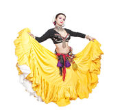 Beautiful exotic belly tribal dancer woman Stock Image