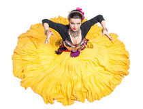 Beautiful exotic belly tribal dancer woman Stock Photos