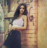 Beautiful exotic brunette Stock Photo