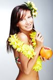 Beautiful exotic girl Royalty Free Stock Photo