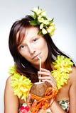 Beautiful exotic girl Stock Image