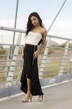 Beautiful exotic slim elegant young woman Stock Photo