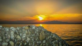 Beautiful exotic sunrise Stock Images