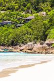 Beautiful exotic tropical beach at Seychelles Royalty Free Stock Photos