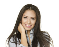 Beautiful exotic young woman long hair Stock Photography