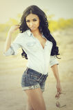 Beautiful exotic young woman Royalty Free Stock Images