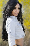 Beautiful exotic young woman long hair Royalty Free Stock Image