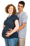 Beautiful expectant couple Royalty Free Stock Images