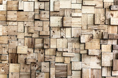 Beautiful exposed wooden wall exterior Royalty Free Stock Photo