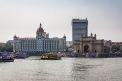 Gateway Of India in Mumbai. Beautiful exposure of the Gateway of India, one of India`s most unique landmarks situated in the city of Mumbai royalty free stock photos