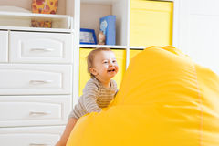 Beautiful expressive adorable happy cute laughing smiling baby infant face. Beautiful expressive adorable happy cute laughing smiling baby infant face Royalty Free Stock Photo