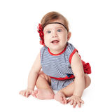 Beautiful adorable happy cute smiling baby. Beautiful expressive adorable happy cute smiling baby Stock Images