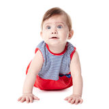 Beautiful adorable happy cute smiling baby. Beautiful expressive adorable happy cute smiling baby Stock Image