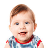 Beautiful adorable happy cute smiling baby. Beautiful expressive adorable happy cute smiling baby Stock Photography