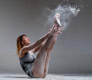 Beautiful expressive ballet dancer posing with Royalty Free Stock Images