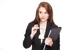 Beautiful expressive businesswoman. Stock Photos