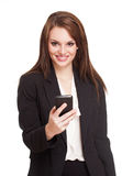 Beautiful expressive businesswoman. Stock Photo
