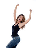 Beautiful expressive curly hair Woman Royalty Free Stock Image