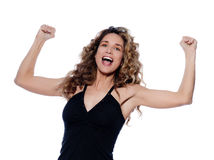 Beautiful expressive curly hair Woman Royalty Free Stock Photo