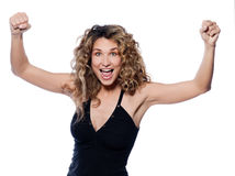 Beautiful expressive curly hair Woman Royalty Free Stock Images