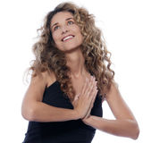 Beautiful expressive curly hair Woman Stock Photography