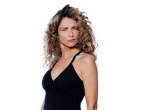 Beautiful expressive curly hair Woman Stock Photo
