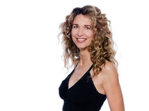 Beautiful expressive curly hair Woman Royalty Free Stock Photos