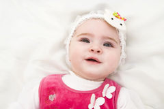 Beautiful expressive happy cute laughing smiling baby. Beautiful expressive adorable happy cute laughing smiling baby stock photo
