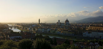Beautiful extensive Panaorama Florence at sunset Stock Photography