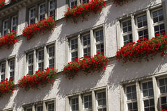 Beautiful exterior of a building. In the center of Munich Stock Image