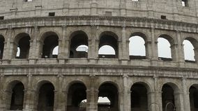 Beautiful exterior of Colosseum, antique ruins of amphitheater, famous landmark. Stock footage stock video