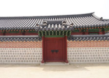 Beautiful exterior entrance with boundary wall royalty free stock image