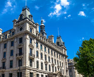 Beautiful exterior of  old buildings in central London at summer day time Stock Image