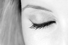 Beautiful eye closed Royalty Free Stock Images