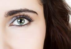 Beautiful eye closeup stock images