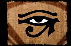 Beautiful Eye of horus vintage on papyrus. Beautiful Eyes of horus vintage on papyrus royalty free stock photography