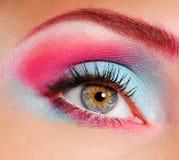 Beautiful eye make-up royalty free stock image