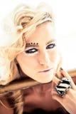 Beautiful eye make-up Stock Image