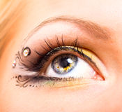 Beautiful eye with makeup Royalty Free Stock Photo