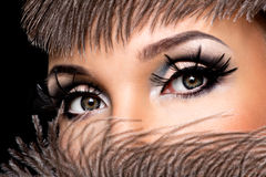 Beautiful Eye Makeup Royalty Free Stock Photography