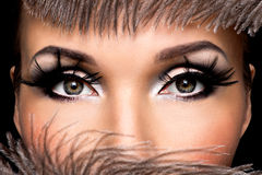 Beautiful Eye Makeup Stock Photography