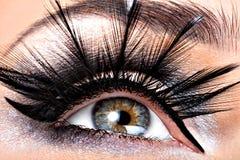 Beautiful Eye Makeup. Wellness, cosmetics and make-up. Holiday visage Royalty Free Stock Images