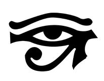 Beautiful Eye of ra illustration. Isolated on white Royalty Free Stock Image