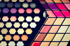 Beautiful Eye shadow and lip gloss cosmetic Royalty Free Stock Images