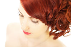 Beautiful eyelashes Royalty Free Stock Photo